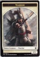 Khans Of Tarkir / Token Creature - Warrior / 2014 Wizards Of The Coast / Trading Card - Unclassified