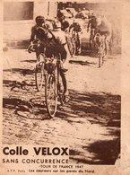 Vieux Papiers > Publicités Colle Velox Tour De France 1947 Les Paves Du Nord - Advertising