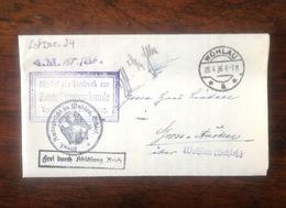 LetDoc. 24. Lettre De Wohlau De 1936. Plusieurs Cachets - Briefe U. Dokumente