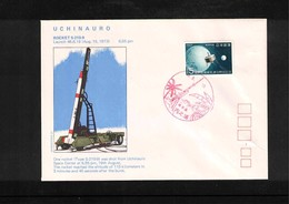 Japan 1973 Space / Raumfahrt  Uchinauro Rocket Launching Interesting Cover - Briefe U. Dokumente