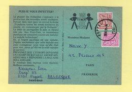 Belgique - Carte Petition Propagande Anti Nucleaire - Destination France - 1981 - Belgium