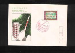 Japan 1974 Space / Raumfahrt  Uchinauro Rocket Launching Interesting Cover - Briefe U. Dokumente