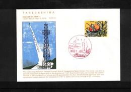 Japan 1974 Space / Raumfahrt Tanegashima Rocket Launching Interesting Cover - Briefe U. Dokumente