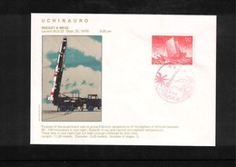 Japan 1975 Space / Raumfahrt Uchinauro Rocket Launching Interesting Cover - Briefe U. Dokumente