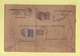 Constantinople - Pera - Recommande Destination France - 29-1-1926 - Storia Postale