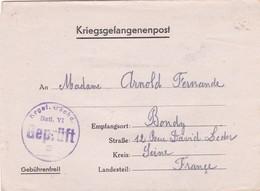 ALLEMAGNE. BONN. CORRESPONDANCE  MILITAIRE. AVIS DE REGLEMENTATION.. KRIEGSGEFANGENENPOST. STALAG VI G. - 1939-45