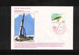 Japan 1976 Space / Raumfahrt  Uchinauro Rocket Launching Interesting Cover - Briefe U. Dokumente
