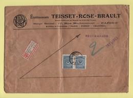 Constantinople - Pera - Imprimes Recommande Destination France - 29-1-1926 - Storia Postale