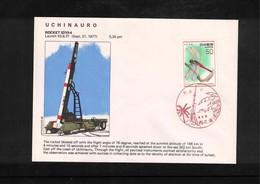Japan 1977 Space / Raumfahrt  Uchinauro Rocket Launching Interesting Cover - Briefe U. Dokumente