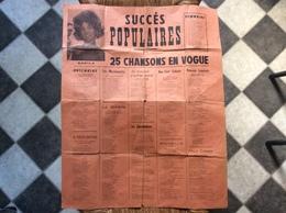 AFFICHE SUCCÈS POPULAIRES  25 Chansons En Vogue  ANNÉES 1960  Sheila - Affiches & Posters