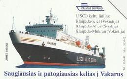 LITUANIA. URMET. Kaunas Shipping Lines. LT-LTV-M022. (101). - Barcos
