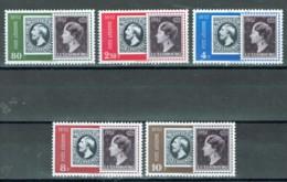 Luxemburg 1952 100 Jahre Briefmarken Michel 490 - 494 MH - Luxembourg