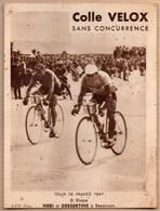 Vieux Papiers > Publicités Colle Velox Tour De France 1947 NERI Et DESSERTINE à Besançon - Advertising
