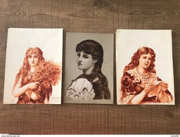 LOT De Dessins Thérèse BOURGOUIN Des Années 1890 - Vieux Papiers