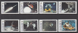 1995 Turks & Caicos Moonlanding Space Complete Set Of 8 MNH - Turks And Caicos