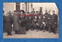 CPA Photo - TOURS - Hôpital Auxiliaire N° 2 - Portrait De Poilu Blessé & Femme à Identifier - 86 Avenue De Grammont - Oorlog 1914-18