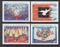 1996 Turks & Caicos UN Women FAO Education Complete Set Of 4 MNH - Turks & Caicos