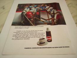 ANCIENNE PUBLICITE BOISSON CHAUDE VIANDOX 1976 - Autres Collections