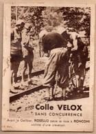 Vieux Papiers > Publicités Colle Velox Avant Le Galibier ROSELLO Passe Sa Roue à RONCONI - Advertising