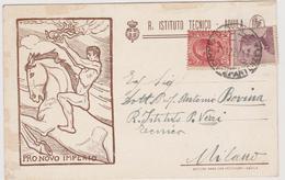 R. Istituto Tecnico, Aquila, Pubblicitaria Commerciale - F.p.-  Anni '1920 - Advertising