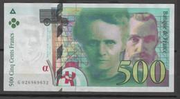Billet France _ 500F P. Et M.Curie  - 1994 - 1992-2000 Ultima Gama