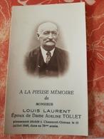 CHAUMONT -GISTOUX LOUIS LAURENT Décédé 19/07/1948 - Images Religieuses