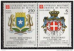 PIA - SMOM - 1984 : Convenzione Postale Con La Repubblica Democratica Somala   - (SAS  A5-6) - Sovrano Militare Ordine Di Malta
