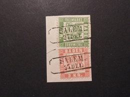 Baden Mi. 23 + 24 Briefstück Klar RA 2 Löffingen-schönes Stück - Baden