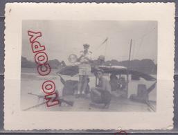 Au Plus Rapide Guerre Indochine Flottille Amphibie Archive Marin Navire Armement Beau Format - War, Military