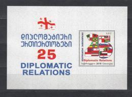 Georgien Georgia  MNH** 2018 Dipl. Relation Block II  Mi 725 Bl.84 - Georgië