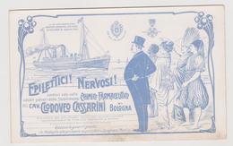 Stabilimento Chimico Farmaceutico Cav. Clodoveo Cassarini, Bologna, Pubblicitaria - F.p.-  Primi '1900 - Werbepostkarten