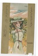 "CARD KIRCHNER DONNINA ""LES PARFUMS"" RESEDA -FP-V-2-  0882-29163 - Kirchner, Raphael"