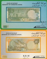 2 Billets Sur Telecartes - Kuwait
