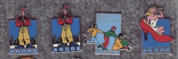 Lot De 4 Pin's Chaussures AZndré - Ted Benoit Et Divers - BD