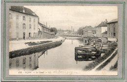 CPA - DIJON (21) - Aspect De La Péniche Amarrée Dans Le Port Du Canal De Bourgogne En 1910 - Dijon