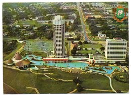 COTE D'IVOIRE - ABIDJAN L'HOTEL IVOIRE VUE AERIENNE / THEMATIC STAMP-SEASHELL - Costa D'Avorio
