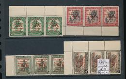 RUANDA URUNDI RED CROSS SET STRIP OF 3 COB 150/153 MNH - 1924-44: Neufs