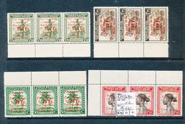 BELGIAN CONGO RED CROSS SET STRIP OF 3 COB 270/273 MNH - Belgisch-Kongo