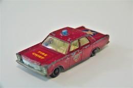 Matchbox Lesney 59C FORD GALAXIE FIRE CHIEF CAR - Regular Wheels, Issued 1966 - Matchbox