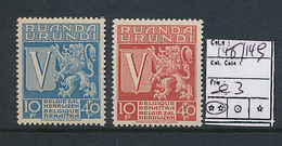 RUANDA URUNDI COB 148/149 MNH - 1924-44: Mint/hinged