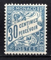 MONACO 1905 / 1919 N° 6 -  Timbre Taxe NEUF** /6 - Taxe