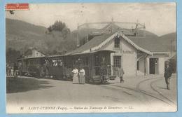 FA379  CPA  SAINT-ETIENNE-LES-REMIREMONT (Vosges) Station Des Tramways De Gérardmer  +++++ - Saint Etienne De Remiremont