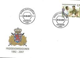 FDC - JOUR D'ÉMISSION   3-9-2007  -   FRIDDENSMISSIOUNEN  1992-2007 - FDC
