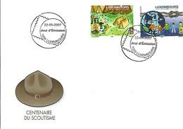 FDC - JOUR D'ÉMISSION   22-5-2007  -    CENTENAIRE DU SCOUTISME - FDC