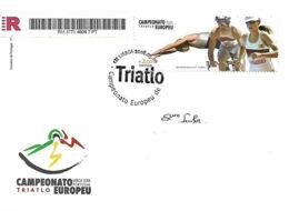 """Portugal 2008 FDC Registado  """"Campeonato Europeu De Triatlo"""" - Athletics"""
