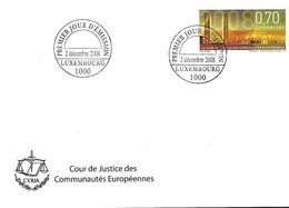 FDC - JOUR D'ÉMISSION   2-12-2008  -  COUR DE JUSTICE DES COMMUNAUTÉS EUROPÉENNES - FDC