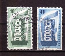 1956  CEPT, Deutsche Bundespost, 2 Werte, Gebraucht - Europa-CEPT