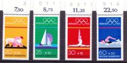 1972 München, Deutsche Bundespost, 4 Werte, Postfrisch - Sommer 1972: München