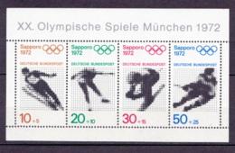 """1971 XX. Olympische Spiele München (""""Sapporo 1972""""), Deutsche Bundespost, Postfrisch - Sommer 1972: München"""