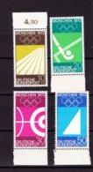 1969  20.Sopmmerspiele 1972 München, (4 Werte), Deutsche Bundespost, Postfrisch - Sommer 1972: München